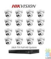 16ch HIKVISION DVR 16 x full HD Camera Package (please read description)