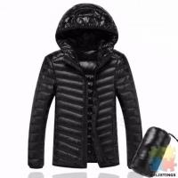 Mens Hooded Jacket Black 2XL. New