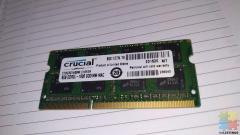Crucial 8GB DDR3L 1600Mhz SODIMM 1.35V/1.5V Laptop RAM