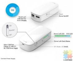 TP LINK TL MR12U 150Mbps Wireless WiFi 3G Router Built - in 5200mAh Power Bank Battery - White
