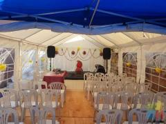 Tents tables chairs lights food warmers for hire