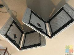 Three Fold Up Trestle Table Folding Top Table