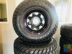 BRAND NEW MUD TYRES AND RIM SET FROM $900 AUCKLAND DAY SPECIAL