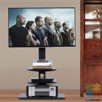 This floor TV stand are designed to give you the best viewing experience