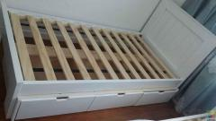 Single bed and mattress set of two with 3 drawers