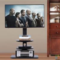 ±30° Swivel Floor TV Cabinet for 32-65'' Flat TV, Brand new