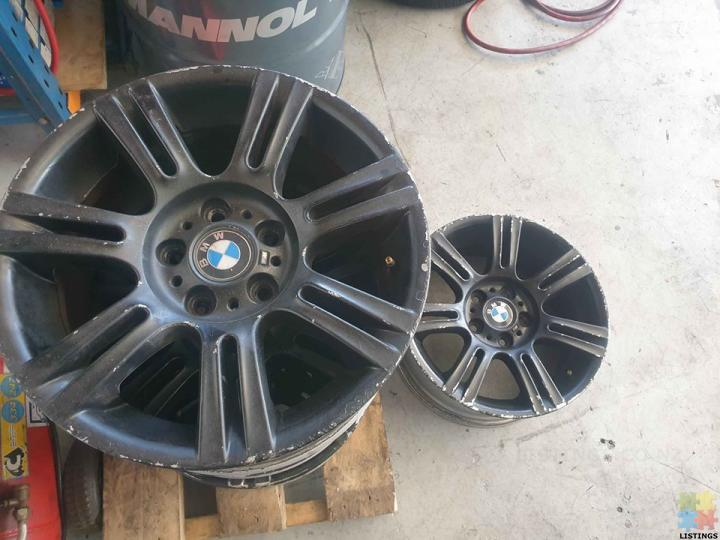 Orignal BMW 320i wheels 8.5×17, stud pattern 5/120 Set of x4 - $400 - 1/1