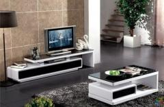 Brand New Coffee Table High Glossy Black & White with Two Drawers (style 894)