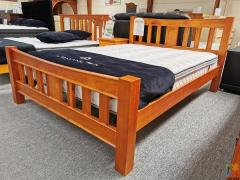 2PCS SPECIAL: Brand New Solid Wooden Queen Bed with Mattress
