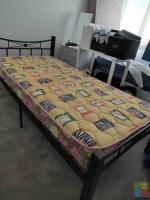 very good condition single bed matress and bed