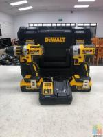 Genoapay available de walt brushles drill an impact drill set inc 2x 4.0ah batteries,charger