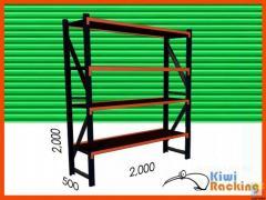 Heavy-duty shelving (2x2x0.5m)