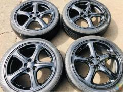 """17""""x7"""" 5x100 wheels with 215/45/17 wofable tyres"""