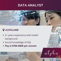 We are looking for a Data Analyst, permanent role in Auckland.