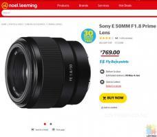 Sony E 50MM F1.8 Prime Lens