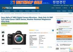 Sony Alpha A7 MKII Digital Camera Mirrorless - Body Only 24.3MP Full-Frame Exmor CMOS Sensor