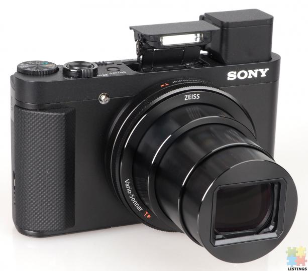 Sony DSC-HX90V High Zoom Digital Compact Camera with 180 Degrees Tiltable LCD Screen and View Finder - 1/3