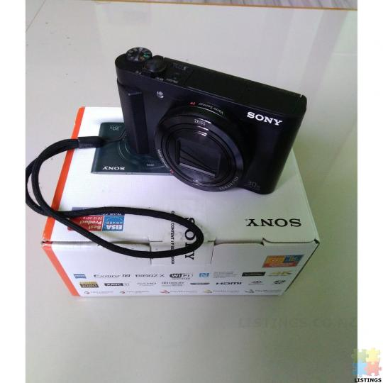 Sony DSC-HX90V High Zoom Digital Compact Camera with 180 Degrees Tiltable LCD Screen and View Finder - 2/3