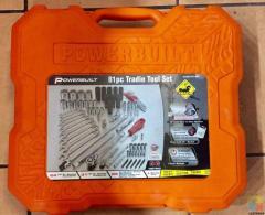 Power built 1/4 & 1/2 Dr 81 piece Tracie Tool Set