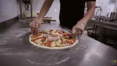 Chef kitchen ..hand pizza ..chef ..