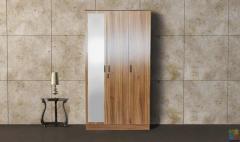 3 Door Wardrobe with mirror and lock