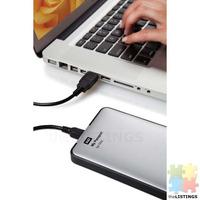 External HDD for Mac. WD 1TB Silver My Passport for Mac Portable External Hard Drive - USB 3.0