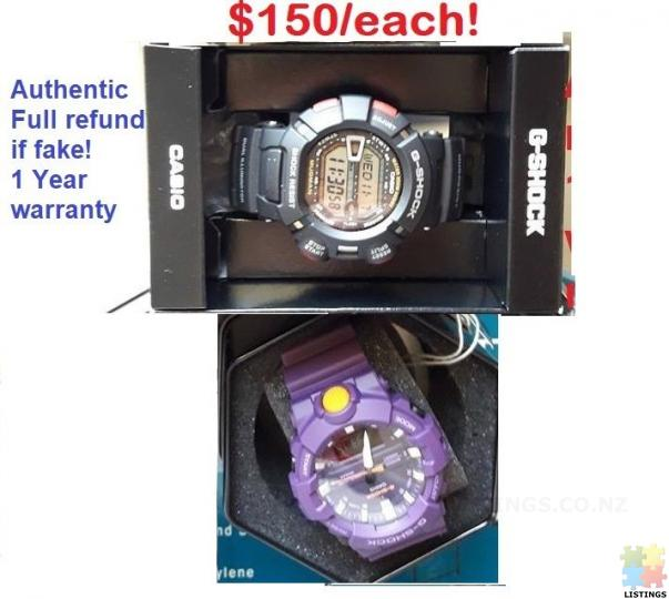 Authentic G-shock Watches $150/each ,Full refund if fake! - 1/3