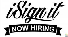 Experienced Sign Writer/Applicator?