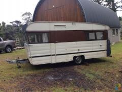 Retro Vintage caravan