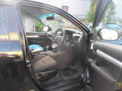 Handy Black Ute 2017 Hilux 4x4 Double CAB
