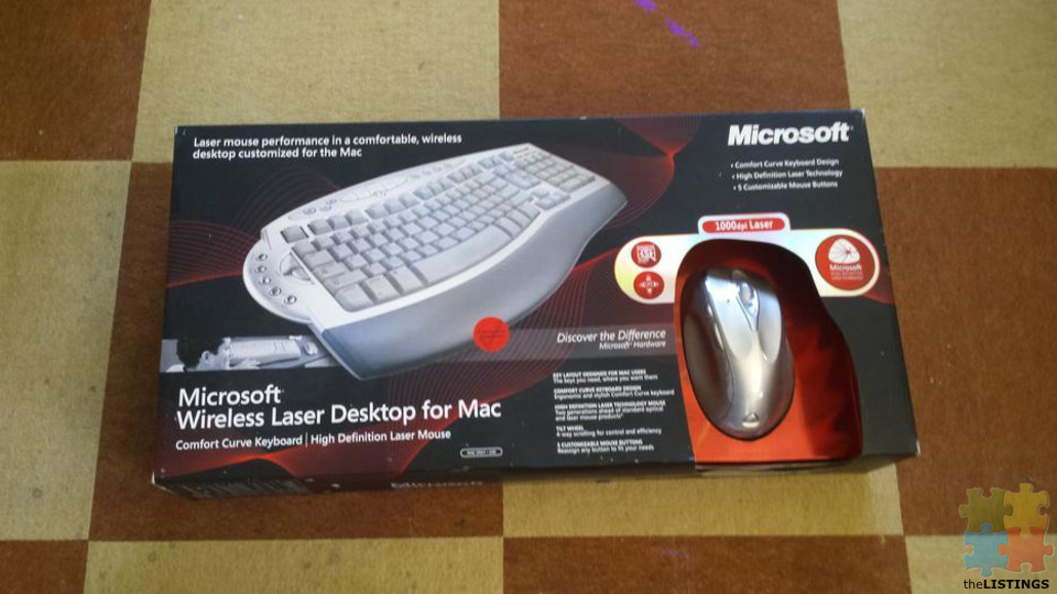 microsoft wireless keyboard and mouse for mac - 1/1