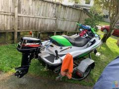 Costumized jetski with an outboard motor!!!