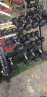 2x30kg hex dumbbells