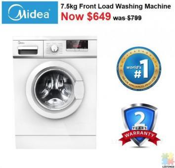 Brand New Midea Glory Series 7.5KG Front Load Washing Machine - DMFLW75G