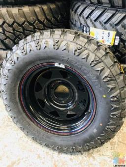 Brand New Tyres and rims 265/70/17 17x8-28
