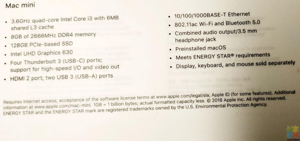 Mac mini 2018. New condition. Warranty - 2/2
