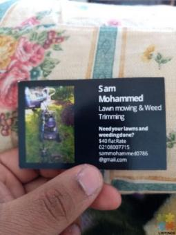 Lawn Mowing And Weed Trimming