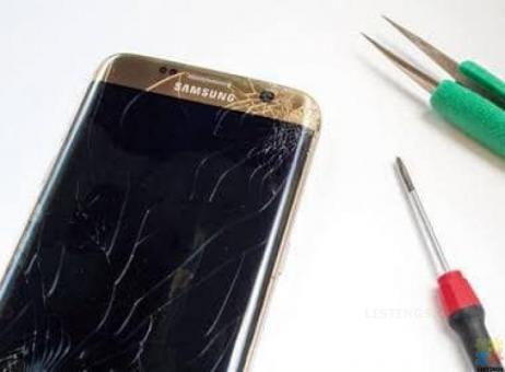 Samsung and iphone screen