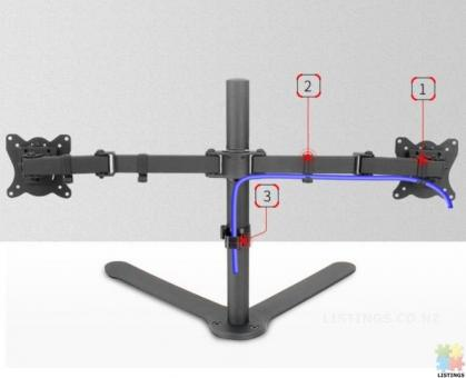 Dual LCD Monitor Fully Adjustable Desk Mount Fits 2 Screens up to 27 inch,Brand new