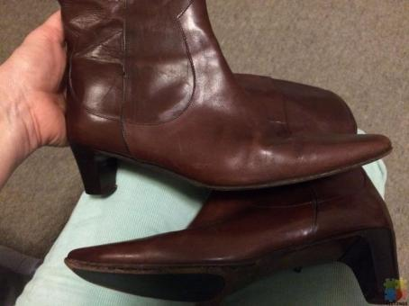 Leather Boots Premium