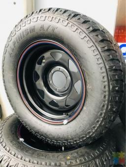 265/65/17 ALTT TERRAIN TYRES BRAND NEW FITTED AND BALANCED TYRES AND RIMS