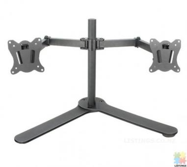 Dual LCD Monitor Fully Adjustable Desk Mount Fits 2 Screens up to 27 inch