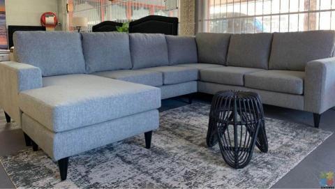 NEW ZEALAND Made Furniture city Retro Maddison corner 50% off