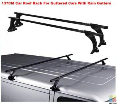137CM Universal Car Rain Gutter Roof Rack 2*Crossbar also fit toyota hiace