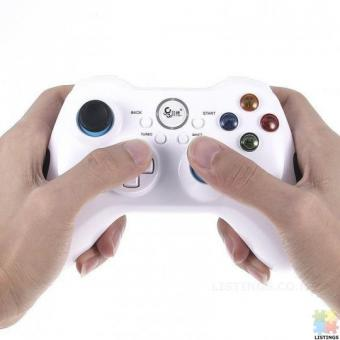 Betop BTP-2585N2 bluetooth Wireless Vibration Turbo Gamepad for PC PS3 TV Box Mobile Phone - white