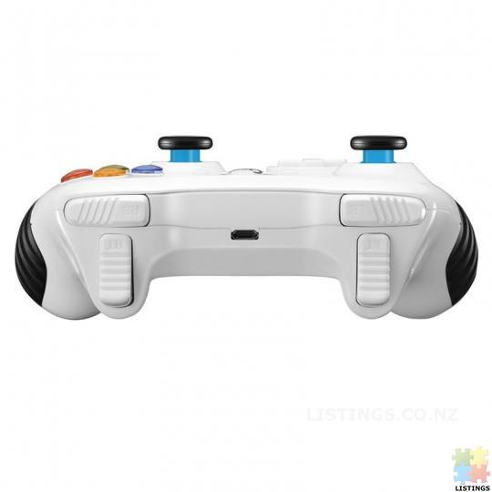 Betop BTP-2585N2 bluetooth Wireless Vibration Turbo Gamepad for PC PS3 TV Box Mobile Phone - white - 2/6