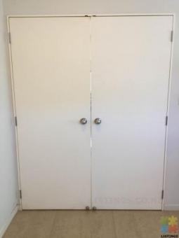 Double pre hung door good condition