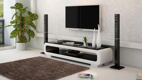 Brand New TV Entertainment Unit Black and White---TS1010#