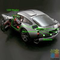 Car Parking Reversing Radar Guiding 4 Sensors
