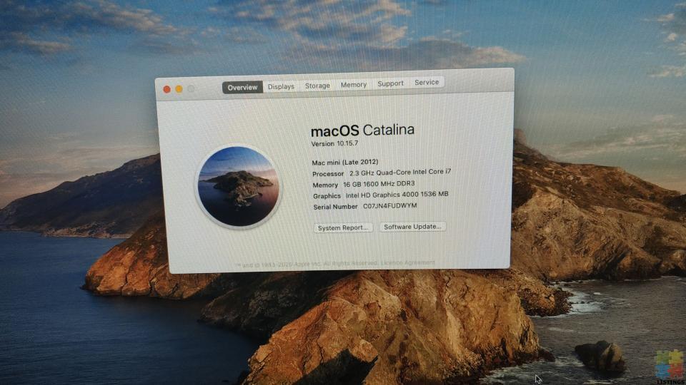 Apple Mac Mini i7 Quad Core - 12/15